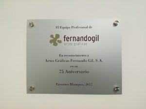 Placa de inauguración - Mario Torres Artesania - València
