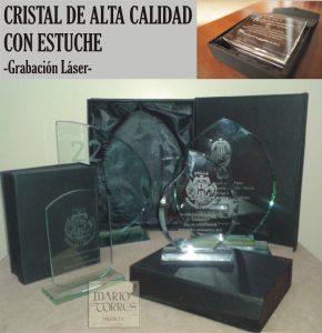 Cristal serigrafiado - Placas y premios de cristal - Mario Torres - Valencia