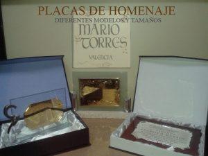 Placas de homenaje - Mario Torres - Valencia