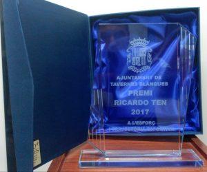 Placa de cristal grabado con estuche - Mario Torres - Valencia