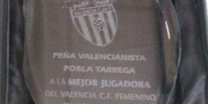 Trofeo Mejor Jugadora - Peña Valencianista La Pobla-Tárraga - Mario Torres - Artesanía
